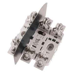 Держатель для ножевого предохранителя DF Electric NH00 ST, 3P, 160A, прижимная планка / прижимная планка