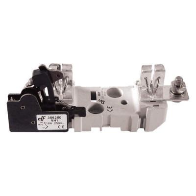 Держатель для ножевого предохранителя DF Electric NH2 ST, 1P, 400A, болт / болт, с микропереключателем