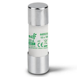 Предохранитель DF Electric 0.25A, цилиндрический 10x38 мм, aM, 500VAC
