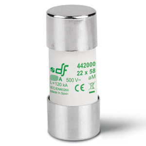 Предохранитель DF Electric 10A, цилиндрический 22x58 мм, aM, 690VAC
