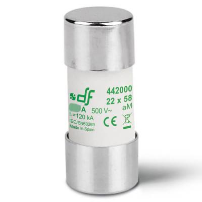 Предохранитель DF Electric 100A, цилиндрический 22x58 мм, aM, 500VAC