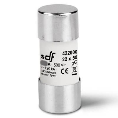 Предохранитель DF Electric 100A, цилиндрический 22x58 мм, gG, 500VAC