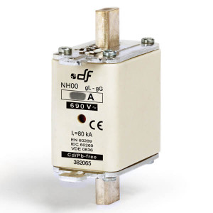 Предохранитель DF Electric 80A, NH00, gG, 690VAC