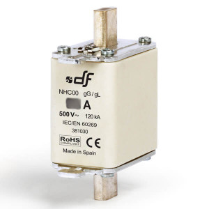 Предохранитель DF Electric 63A, NHC00, gG, 500VAC